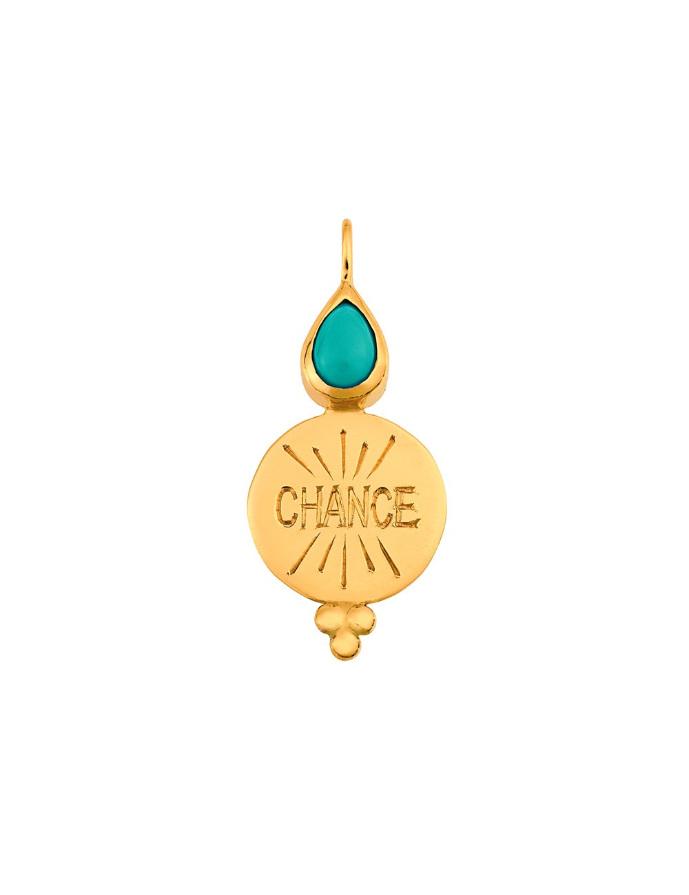 Médaille Chance • Turquoise