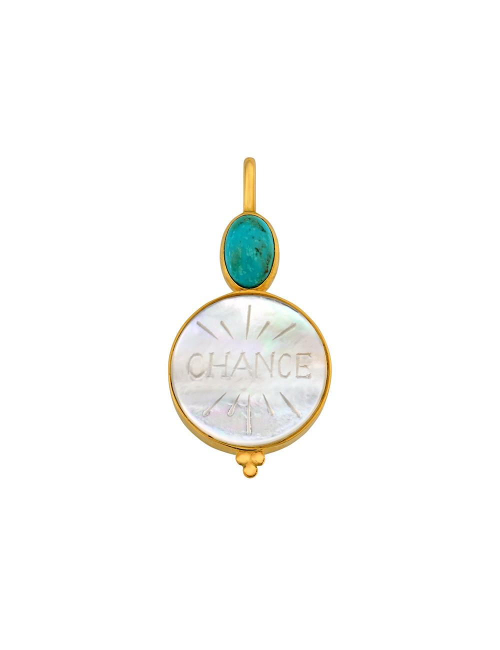 Médaille nacre Chance • Turquoise