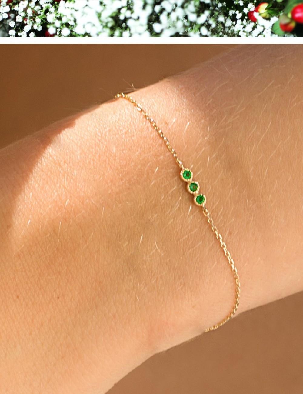 Bracelet Bérénice * Onyx vert
