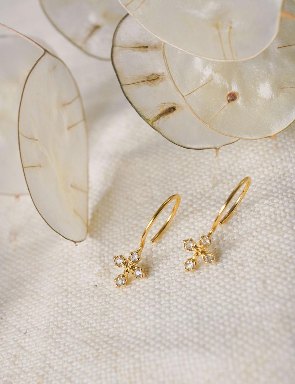 Boucles d'oreilles Coralie * Labradorite