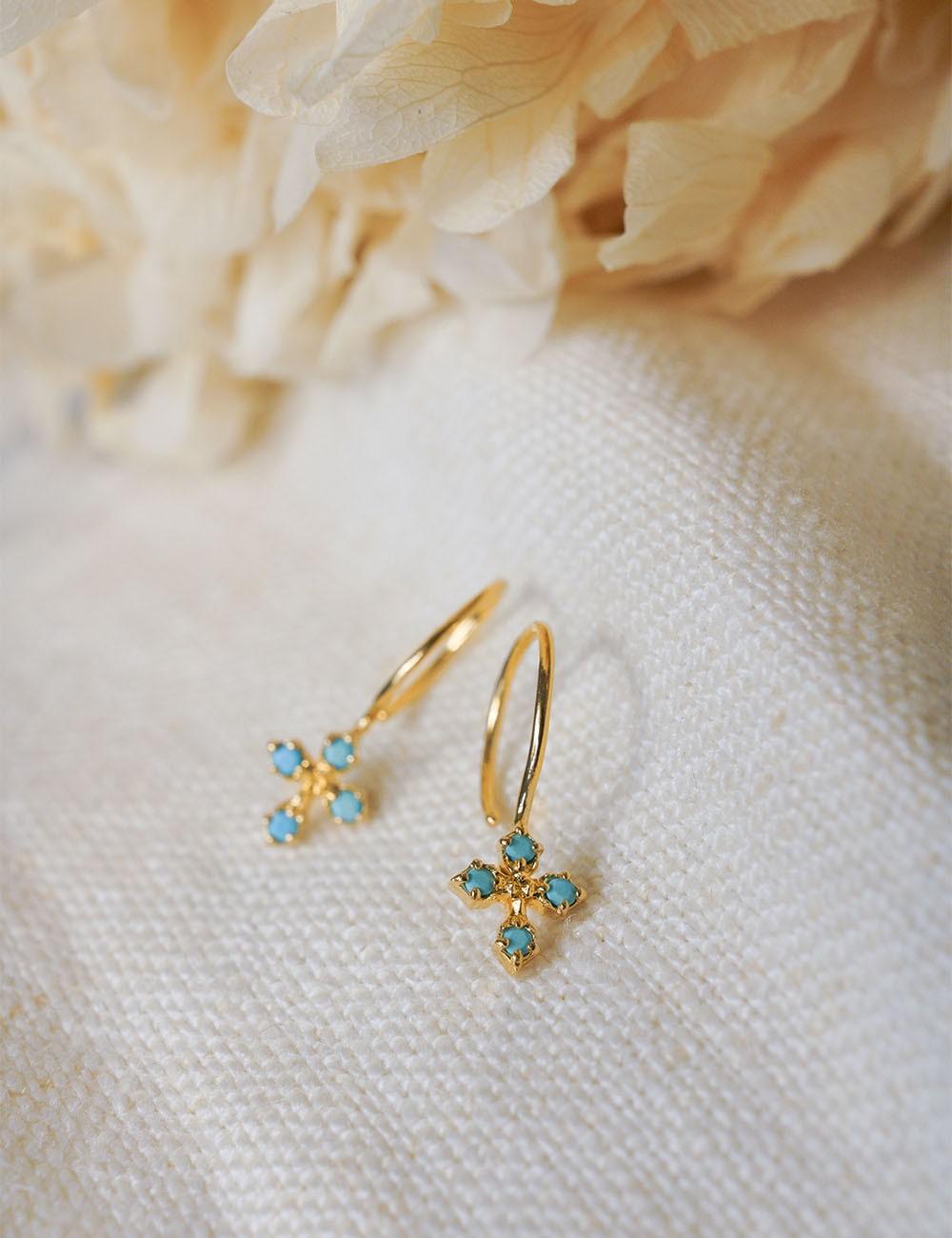 Boucles d'oreilles Coralie * Turquoise